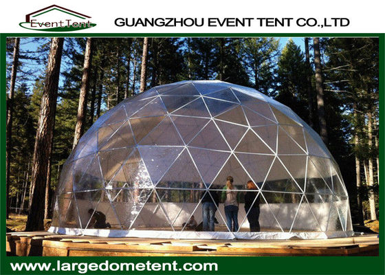China Transparent PVC Half Sphere Geodesic Dome Tent Outdoor Exhibition Party Tent factory