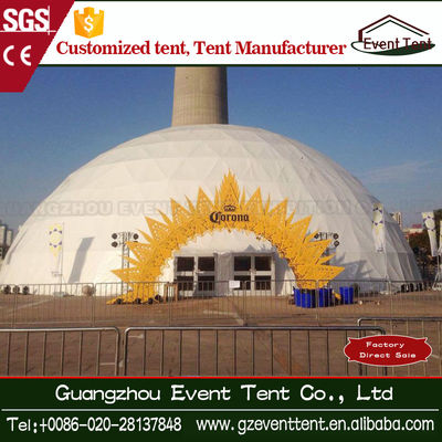 China Outdoor UV Resistant Marquee Geodesic Dome Tent With Glass Fire Door factory