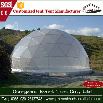China Steel Frame Steel Dia 30m Transparent Geodesic Dome Tent for Events factory