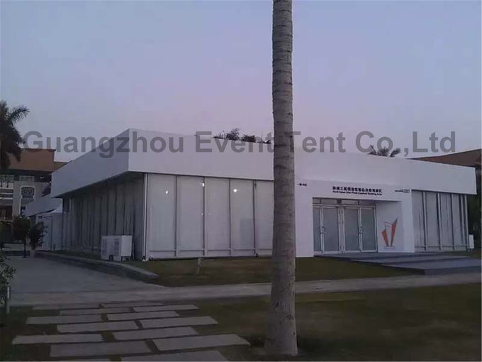 Professional Custom Event Tents Water Resistant With Double Swing Glass Doors