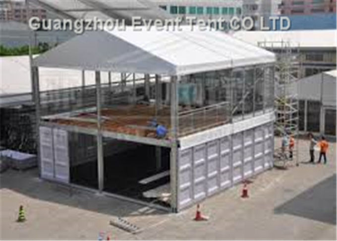 Waterproof Advertising Double Decker Tent 25m With ABS Wall Clear Window