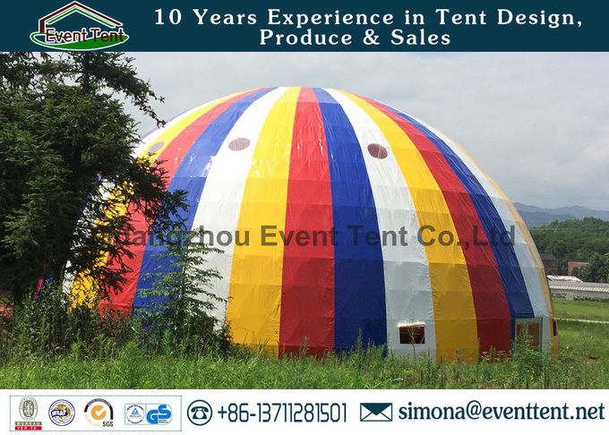 30m Aluminum Alloy Geodesic Dome Greenhouse Kits Waterproof For Concert Event