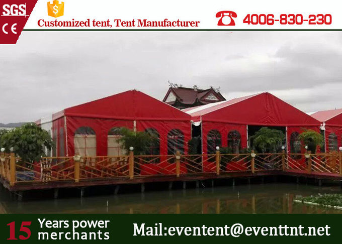 Modular Type A Frame Tent With Waterproof Fireproof Structur 25*100 Meter